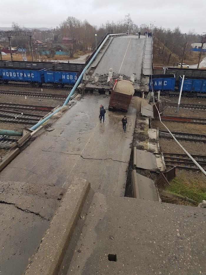 Обрушение моста в г. Свободный - 4