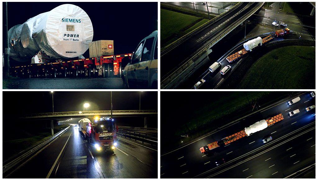 Видео по перевозке негабаритных грузов