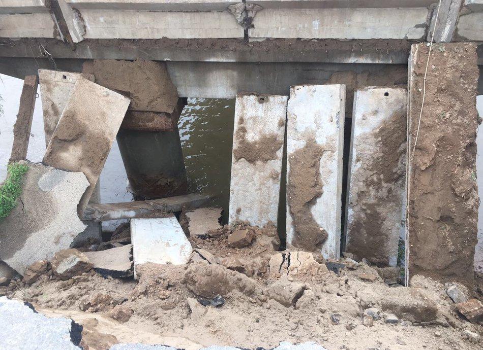 В Приморском крае частично обрушился мост